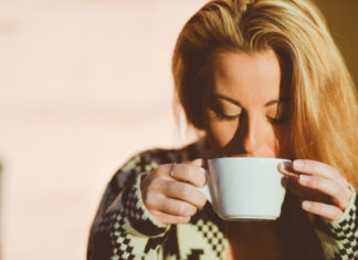 Girl Sipping Warm Water